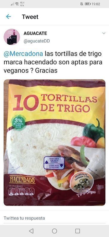 Tortillas fajitas veganas Mercadona