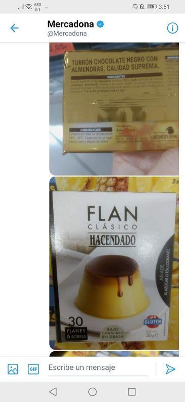 Flan vegano Mercadona