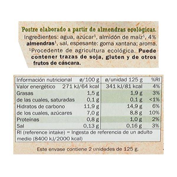 Yogur almendras Lidl ingredientes y información nutricional