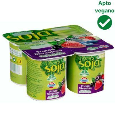 Yogur de soja y frutos rojos Mercadona