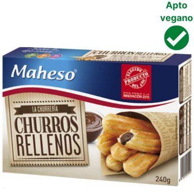 Churros rellenos de chocolate Maheso veganos