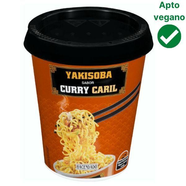 Fideos Yakisoba curry Mercadona veganos
