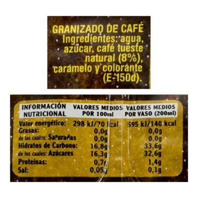 Granizado de café Mercadona (Hacendado)