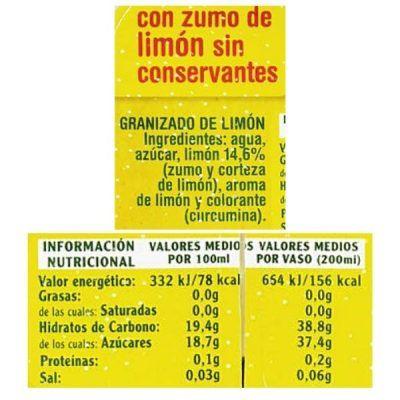 Granizado de limón Mercadona (Hacendado)