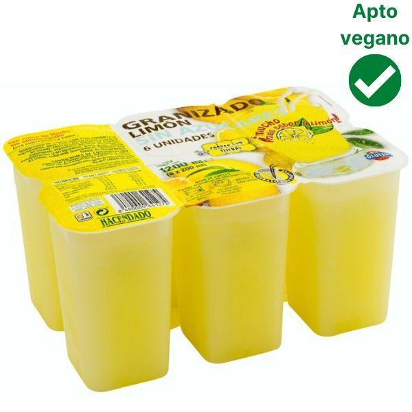 Granizado de limón sin azúcar Mercadona sin lactosa