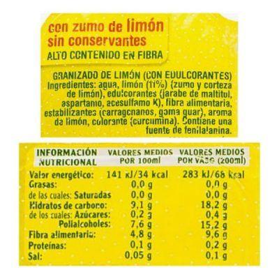 Granizado de limón sin azúcar Mercadona (Hacendado)