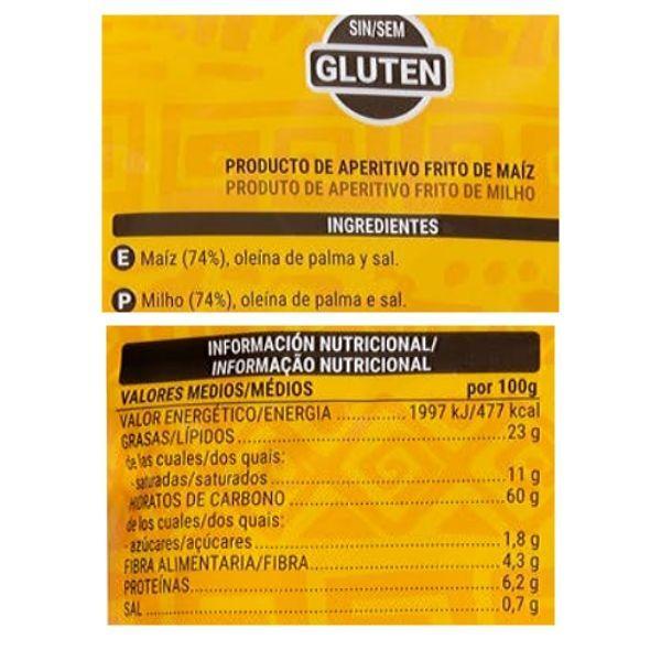 Nachos Mercadona ingredientes y información nutricional