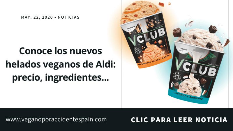 Ya han llegado los nuevos helados veganos a Aldi España
