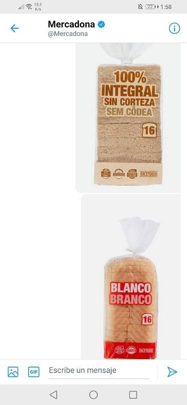 Pan de molde Hacendado vegano