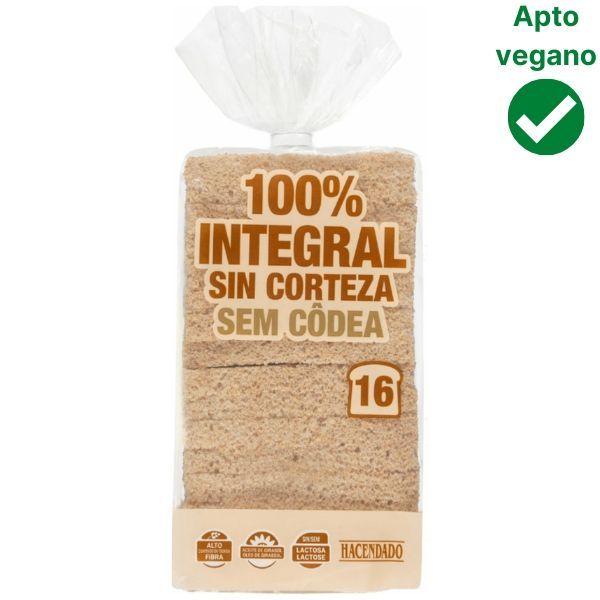 Pan de molde integral Mercadona vegano