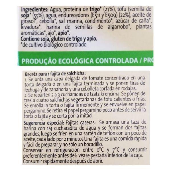 Salchichas veganas Aldi ingredientes