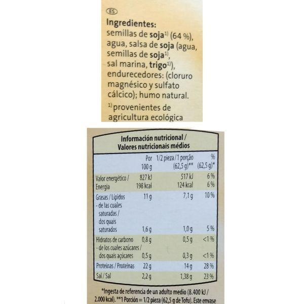 Tofu ahumado Aldi información nutricional y ingredientes