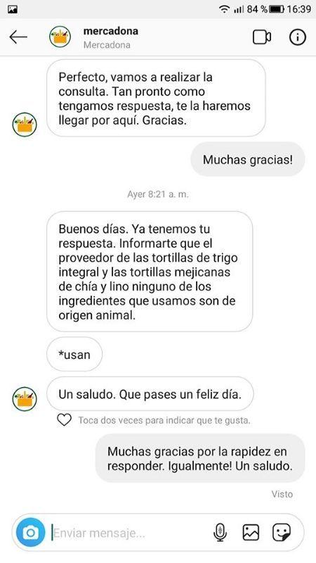 Fajitas integrales Mercadona veganas