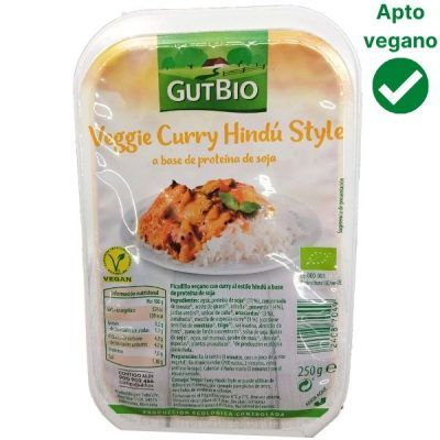 Curry Hindú de soja vegano Aldi (Gutbio)