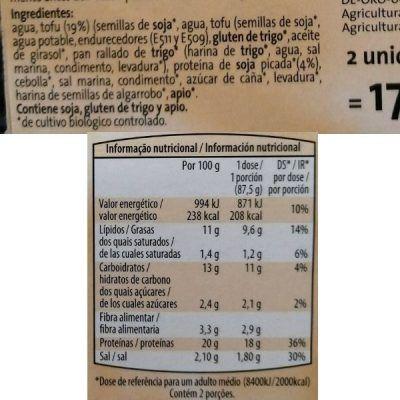 Escalopes de tofu veganos Aldi (Gutbio)