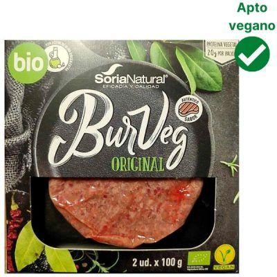 Hamburguesa vegana BurVeg Soria Natural