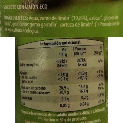 Helado de limón vegano Aldi (Gutbio)