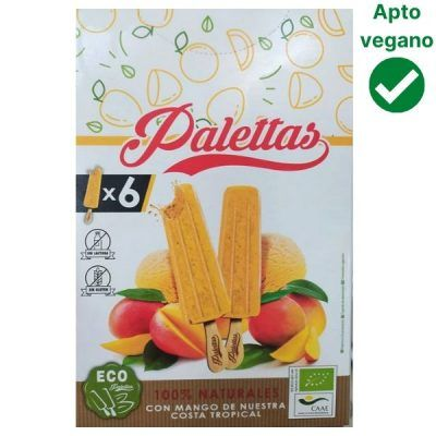 Helado de mango vegano Palettas – Alcampo