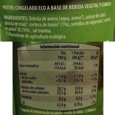 Helado merengado vegano Aldi (Gutbio)