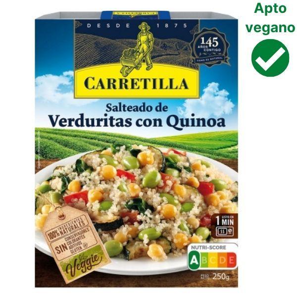 Salteado de verduras con quinoa Carretilla