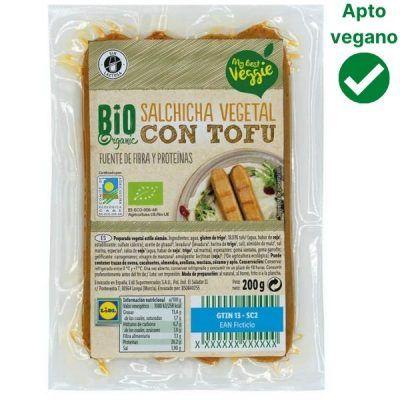 Salchichas de tofu veganas Lidl