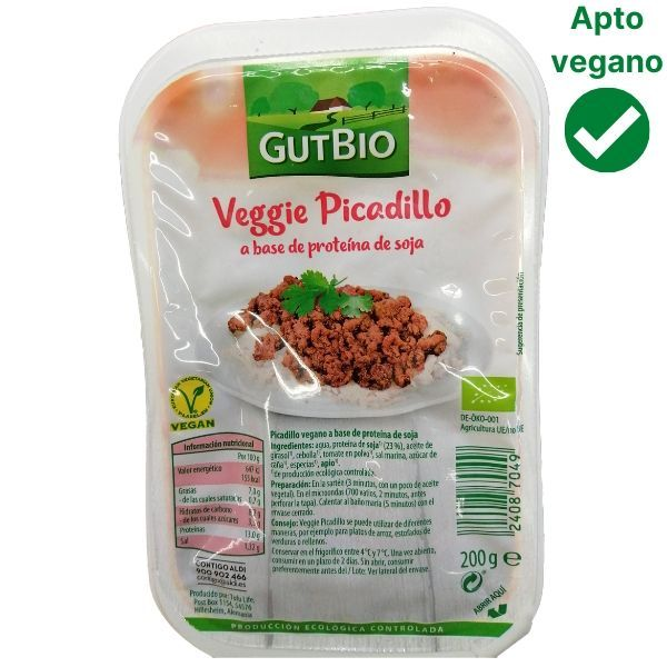 Picadillo de soja texturizada Aldi vegano