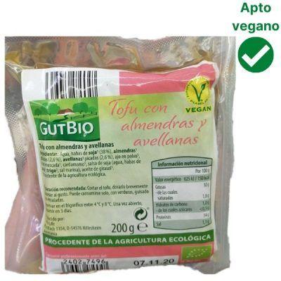 Tofu con almendras y avellanas Aldi (Gutbio)