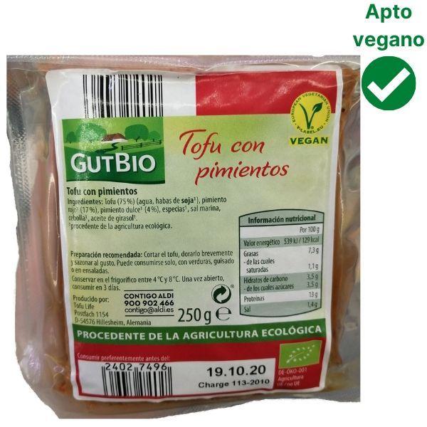 Tofu con pimiento Aldi
