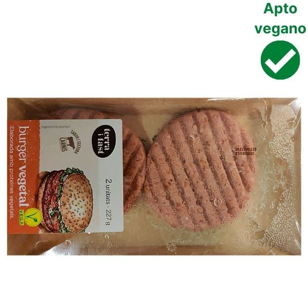 Hamburguesa vegana sabor ternera Terra i Tast Bonpreu