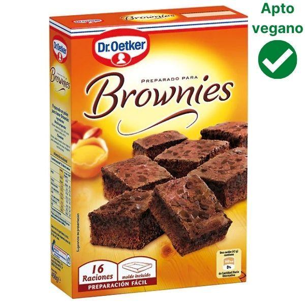 Preparado para hacer brownies Dr Oetker vegano