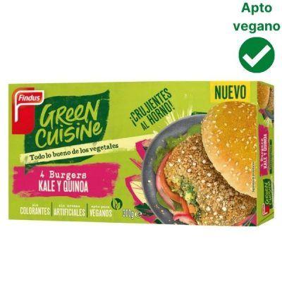 Hamaburguesas de kale y quinoa veganas Green Cuisine Findus