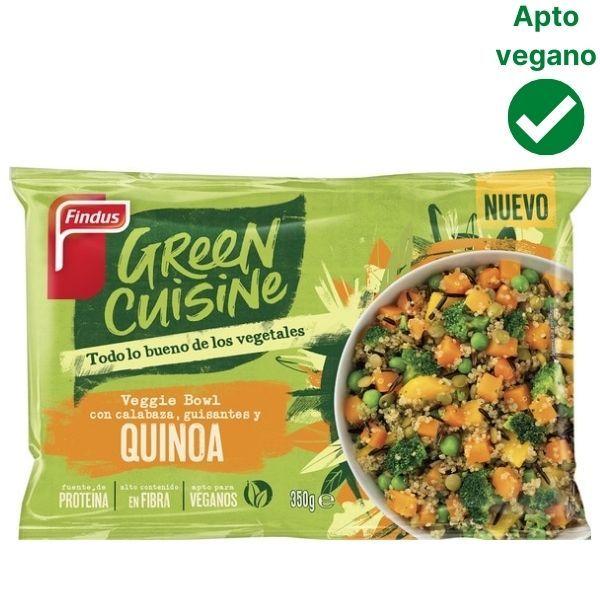 Quinoa con calabaza y guisantes Green Cuisine Findus