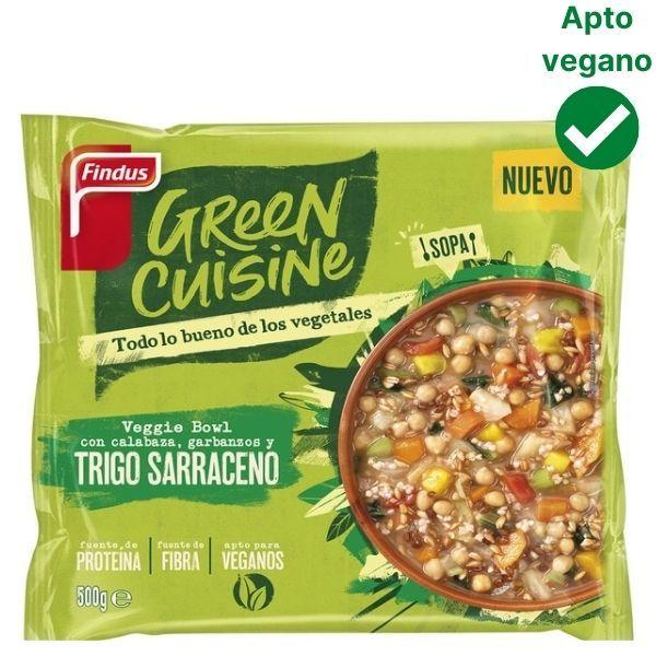 Trigo sarraceno con calabaza y garbanzos Green Cuisine Findus