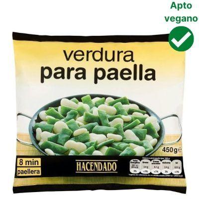 Verduras para paella Mercadona congeladas