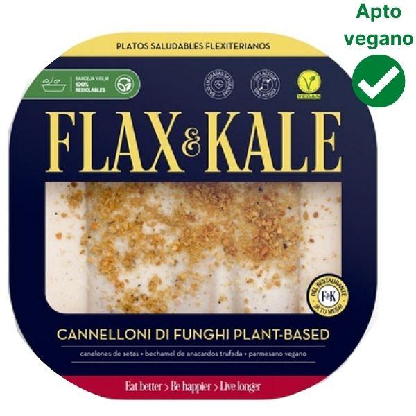 Canelones de setas veganos Flax and Kale