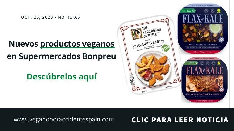 Productos veganos Bonpreu