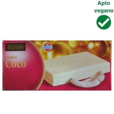 Turrón de coco Mercadona vegano