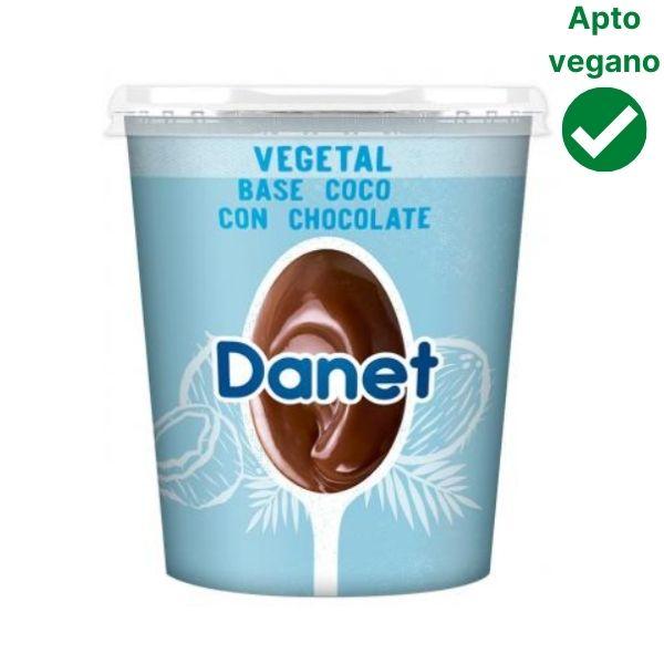 Natillas de chocolate veganas Danet