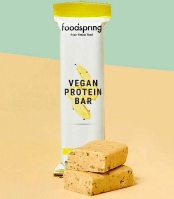 Barrita proteica de limon y chia vegana Foodspring