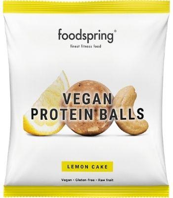 Bolitas proteicas sabor pastel de limon veganas Foodspring
