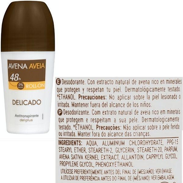Desodorante avena roll on Mercadona ingredientes