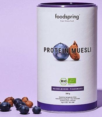 Muesli proteico con arandanos Foodspring vegano