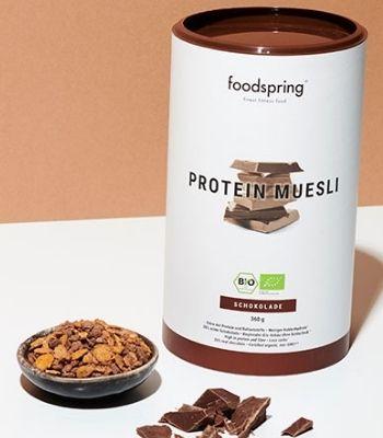 Muesli proteico de chocolate Foodspring opinion