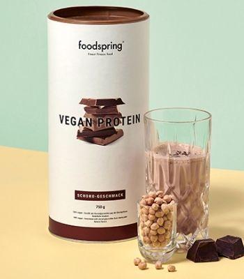Proteina vegana de chocolate Foodspring opinión