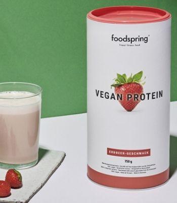 Proteina de fresa vegana Foodspring