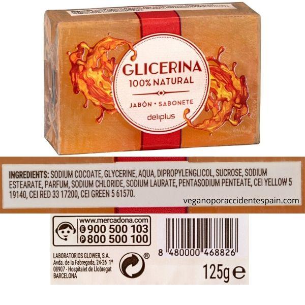 Jabón de manos de glicerina Mercadona ingredientes
