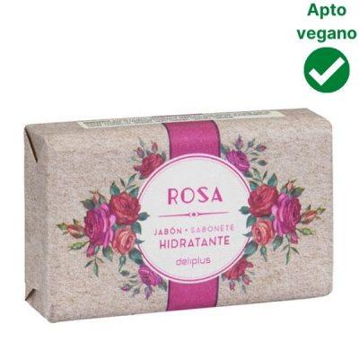 Pastilla de jabón rosa Mercadona vegana
