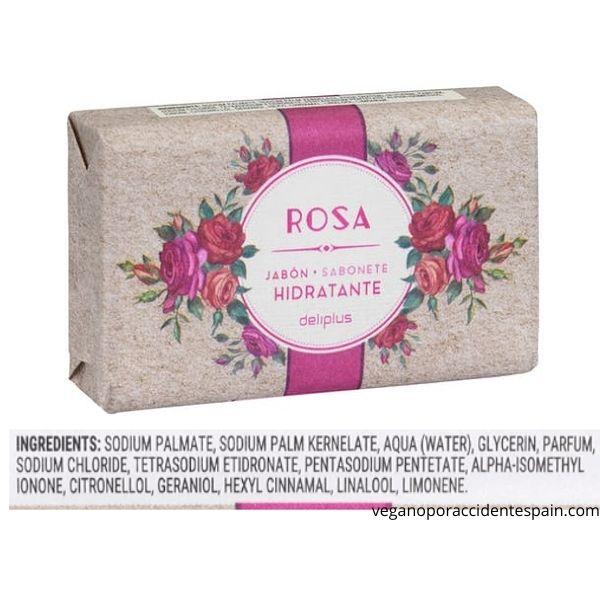 Pastilla de jabon rosa Mercadona ingredientes