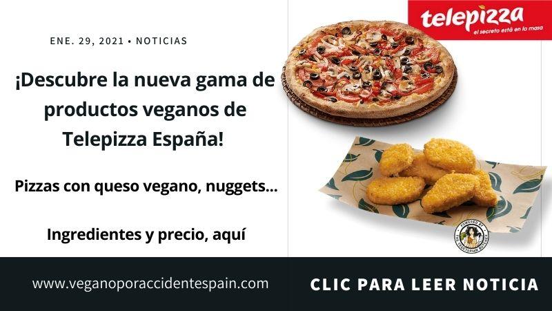 Comer vegano Telepizza