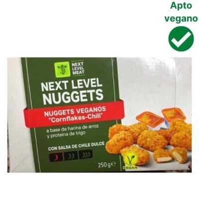 Nuggets veganos Lidl Next level con salsa de chili